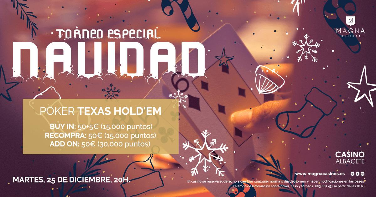 Torneo de poker especial Navidad en el Casino Albacete