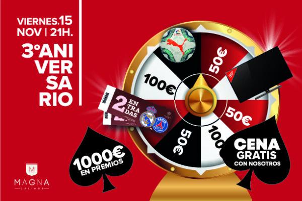 Magna Casinos te invita a la fiesta del 3º aniversario del Casino de Albacete